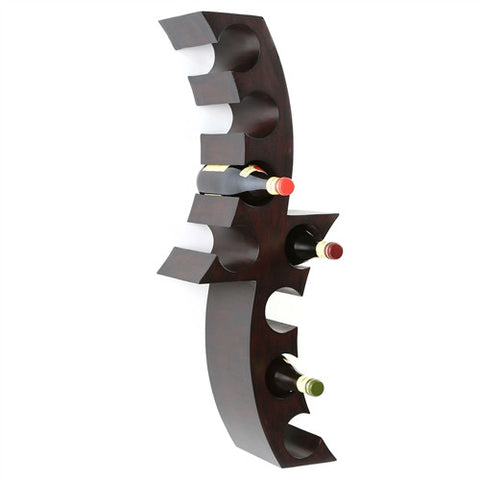 Dangerous Curves Wall-Mounted Wine Rack