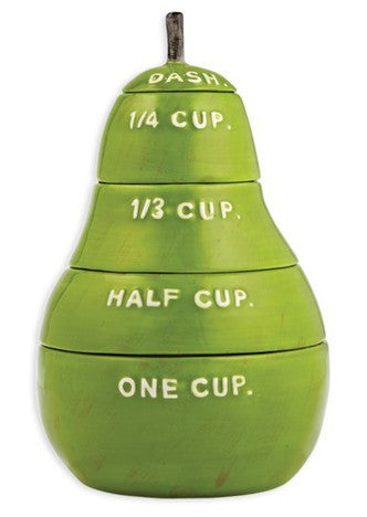 Pear-y Cute Rae Dunn Measuring Cups - Green