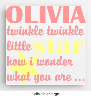 """Twinkle-Twinkle"" Personalized Canvas"