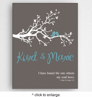 """My Soul Loves"" Personalized Canvas"