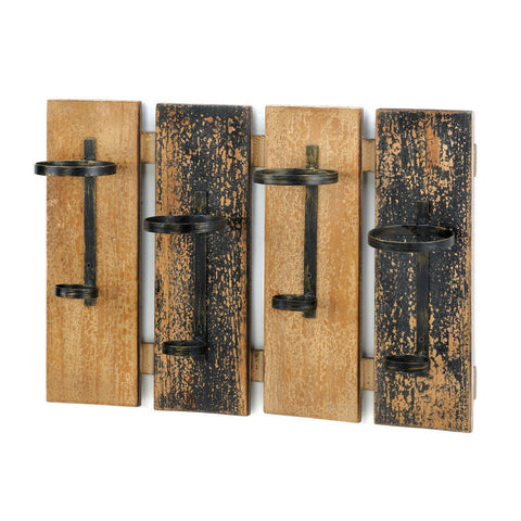 Rustic Notes Mounted Wall Rack