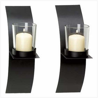 Modern Candle Sconce Duo