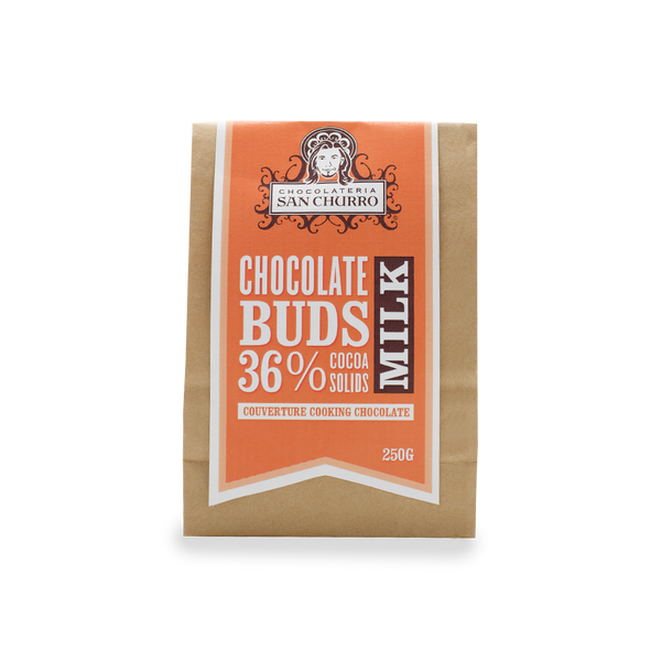 San Churro Couverture Milk Chocolate Buds