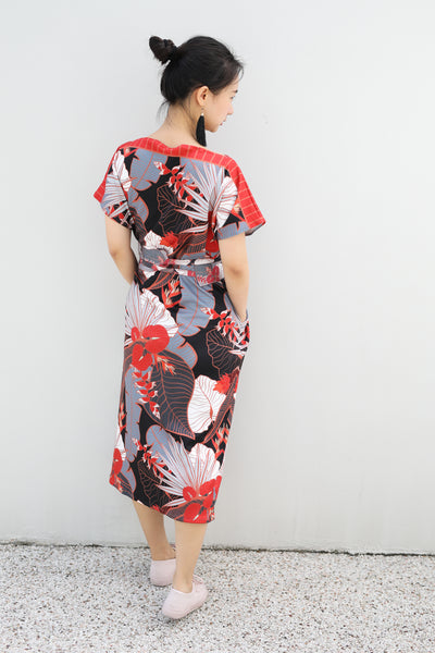 PRE-ORDER -Tropical Party Midi Kimono Dress