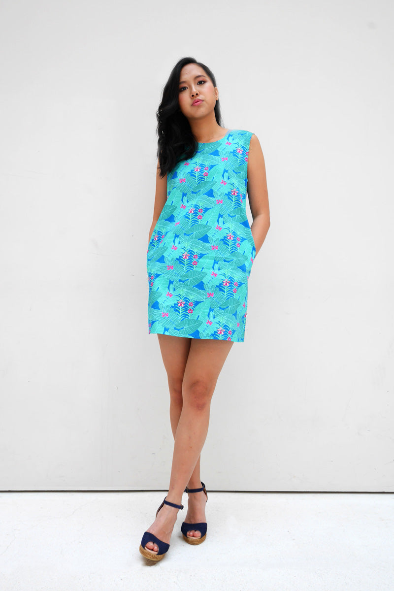 Botanical Cotton Mini Dress