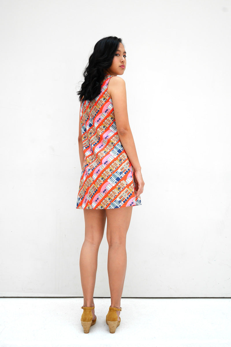 Tiong Bahru Cotton Mini Dress