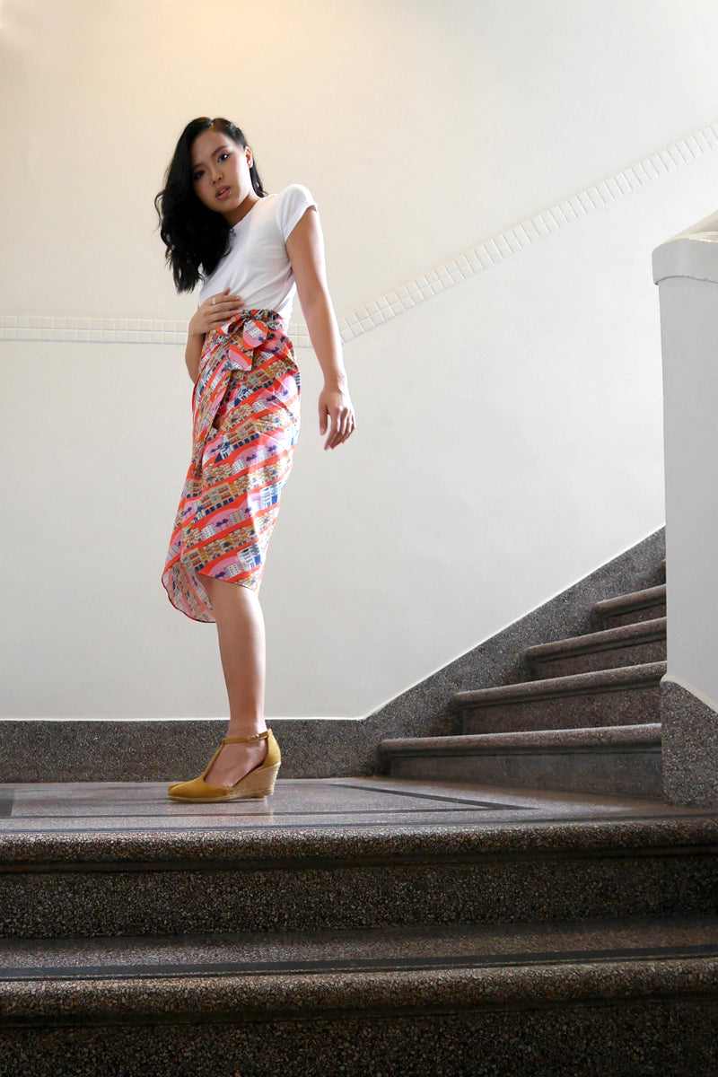 Tiong Bahru Cotton Wrap Skirt