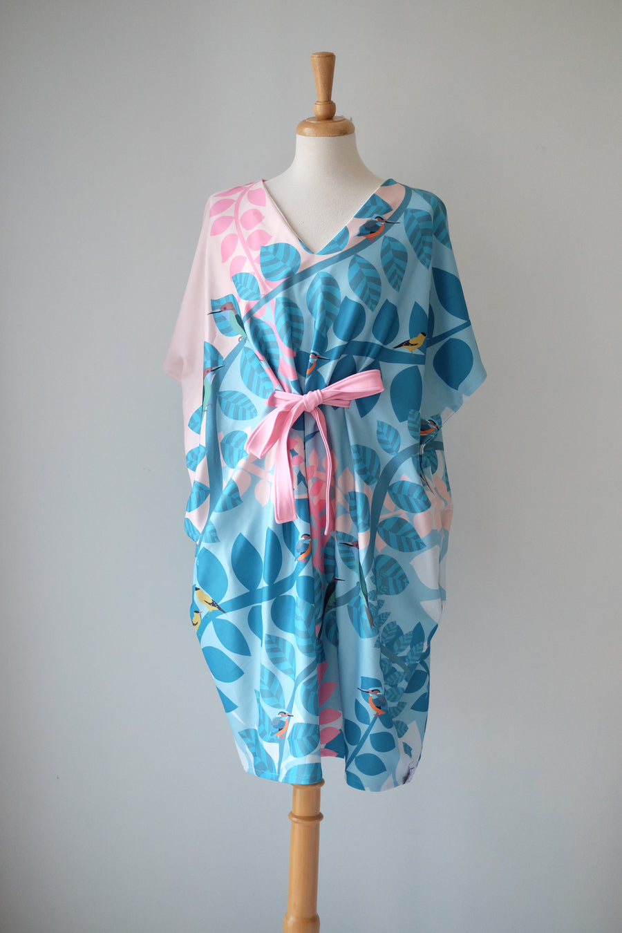 Native Birds Kimono Dress