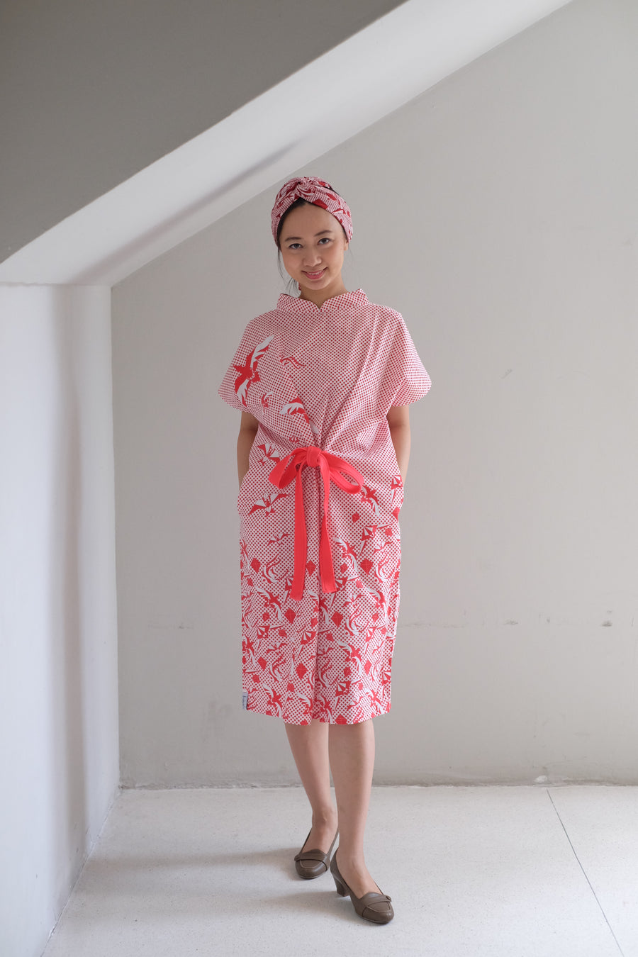 Dancing Kites Kimono Dress in COTTON