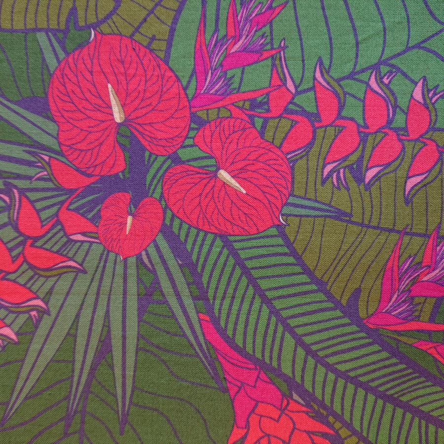 Tropical Party Fuschia Fabric