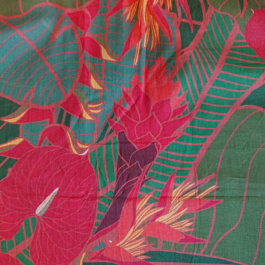 Tropical Party Scarlet Fabric