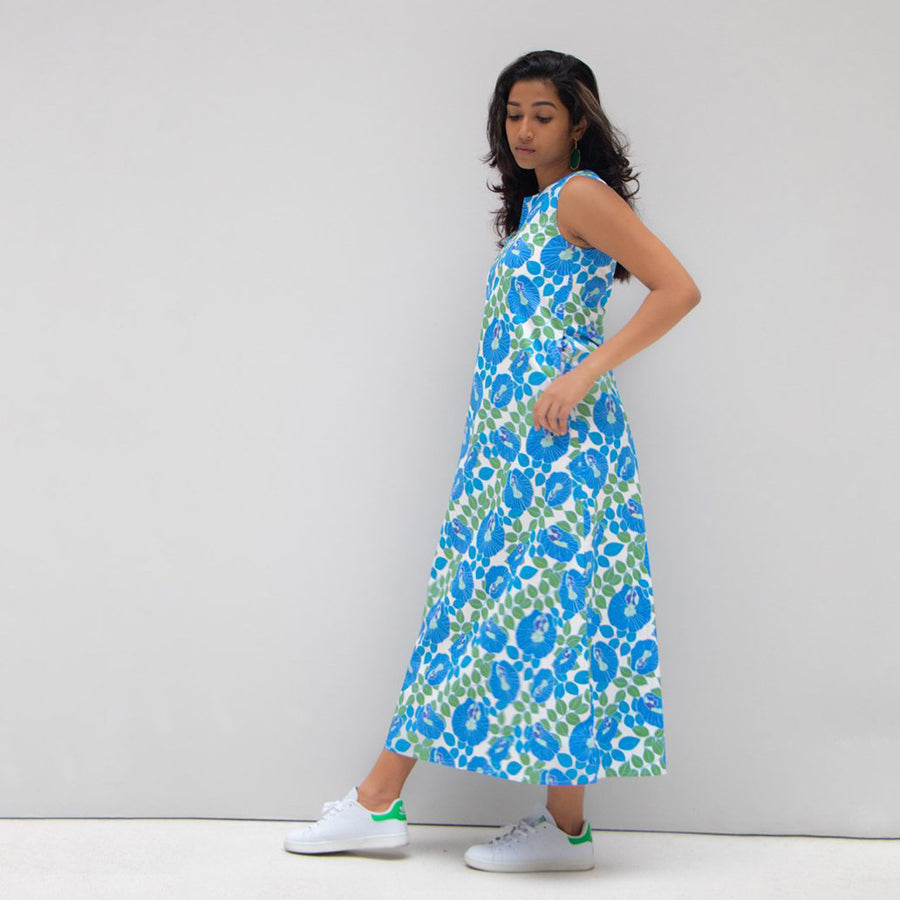 Butterfly Pea Flower Long Dress