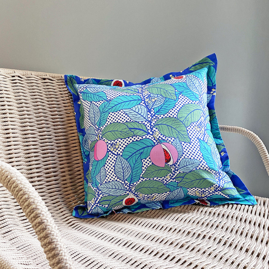 Nutmeg Blue Cushion Cover
