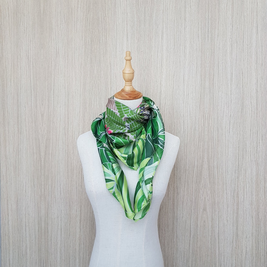 Botanical Treasures of Singapore in Silk Twill