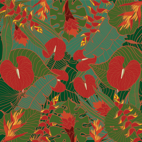 SILK TWILL: Tropical Party