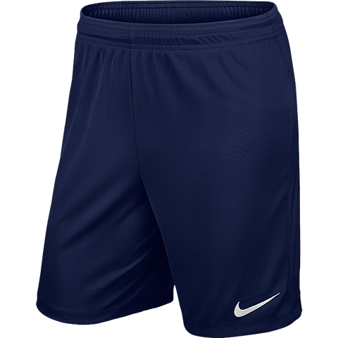 Triple Skillz - Nike Park II Knit Short, Navy- Adult (725887/410) - Fanatics Supplies