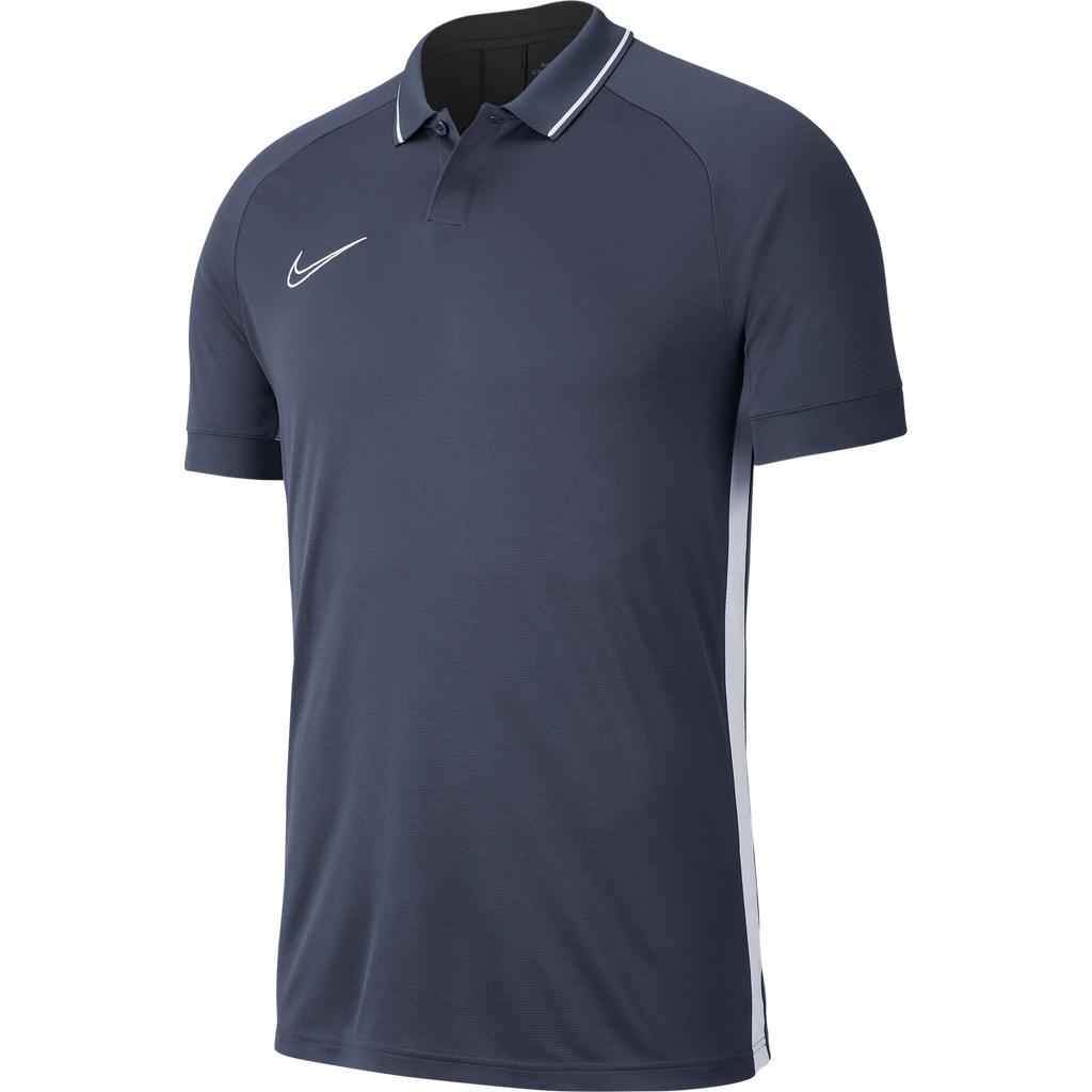 Lutterworth Town F.C. Coaches - Nike Academy 19 Polo, Grey, Adults. - Fanatics Supplies