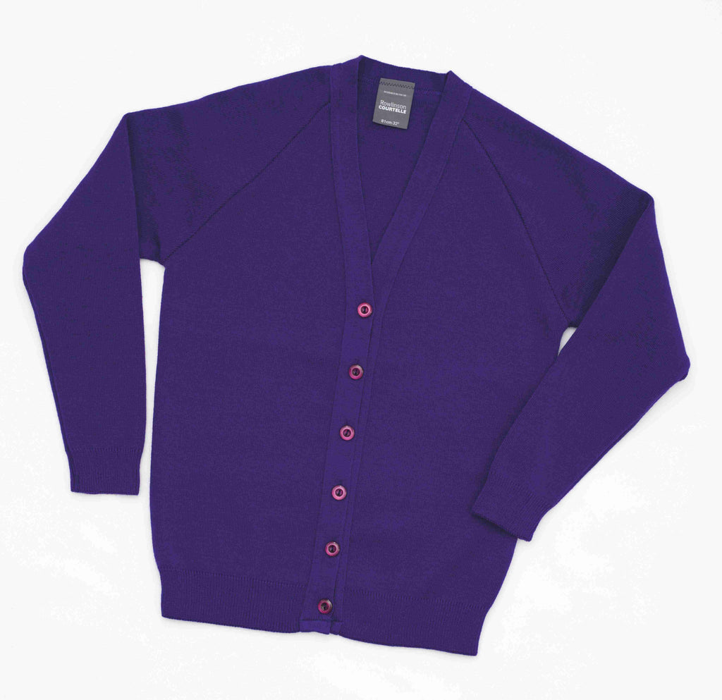 Ellesmere cardigan, Purple - Fanatics Supplies