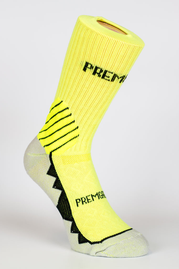 PREMGRIPP CREW SOCK, WITH PATENTED TECHNOLOGY, FLO YELLOW. - Fanatics Supplies