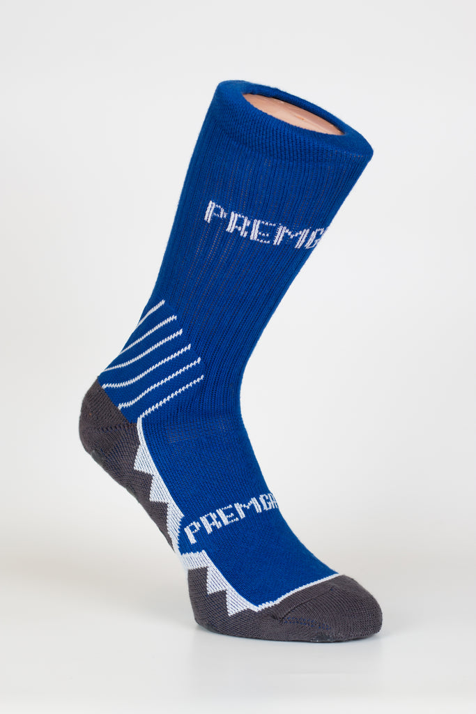 PREMGRIPP CREW SOCK, WITH PATENTED TECHNOLOGY, ROYAL BLUE.