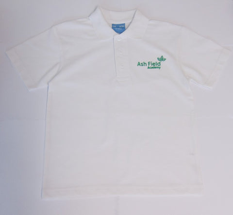 Ash Field White Unisex Polo Shirt (SS25B)