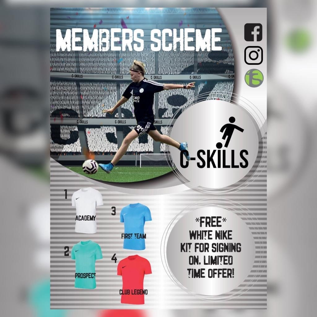 C-Skills - Nike Kit (Academy) White, Adults, Free with C-Skills registration. - Fanatics Supplies