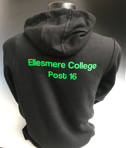 Ellesmere College Post 16 Hoodie, Black. - Fanatics Supplies