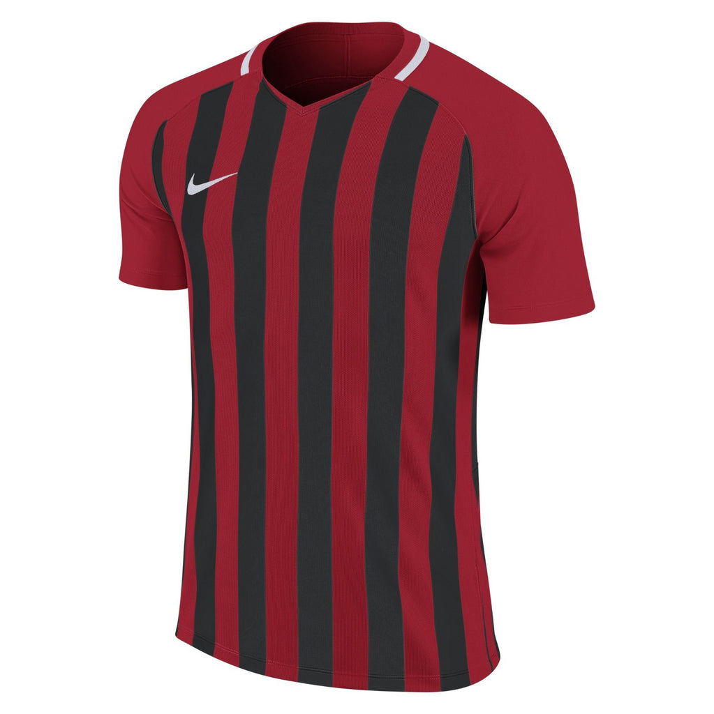 Barrow Town FC - Nike Striped Division III Jersey, Red/Black, Adults (894081/657) - Fanatics Supplies
