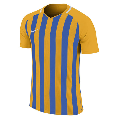 Barrow Town FC - Nike Striped Division III Jersey, Yellow/Blue, Adults (894081/740) - Fanatics Supplies