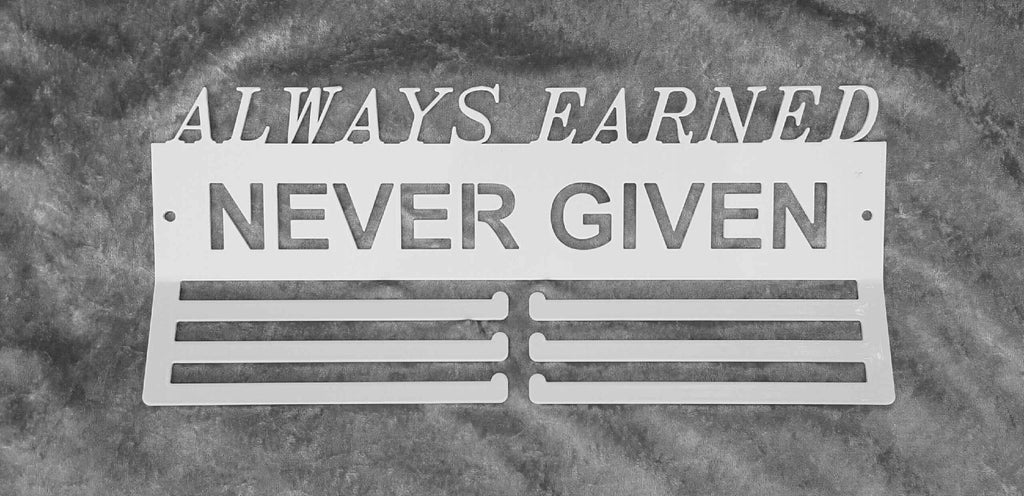 Always Earned Never Given Hanger, TRIPLE BAR Style