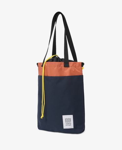 Topo Designs – Cinch Tote – Navy/Coral