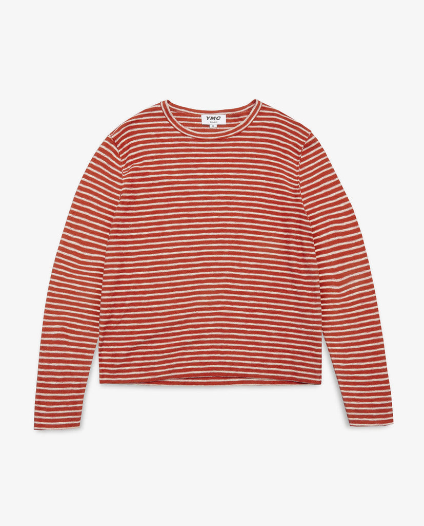 YMC - Striped Sweat - Red