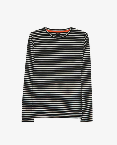 Finisterre – Loxia Long Sleeve – Black/Ecru