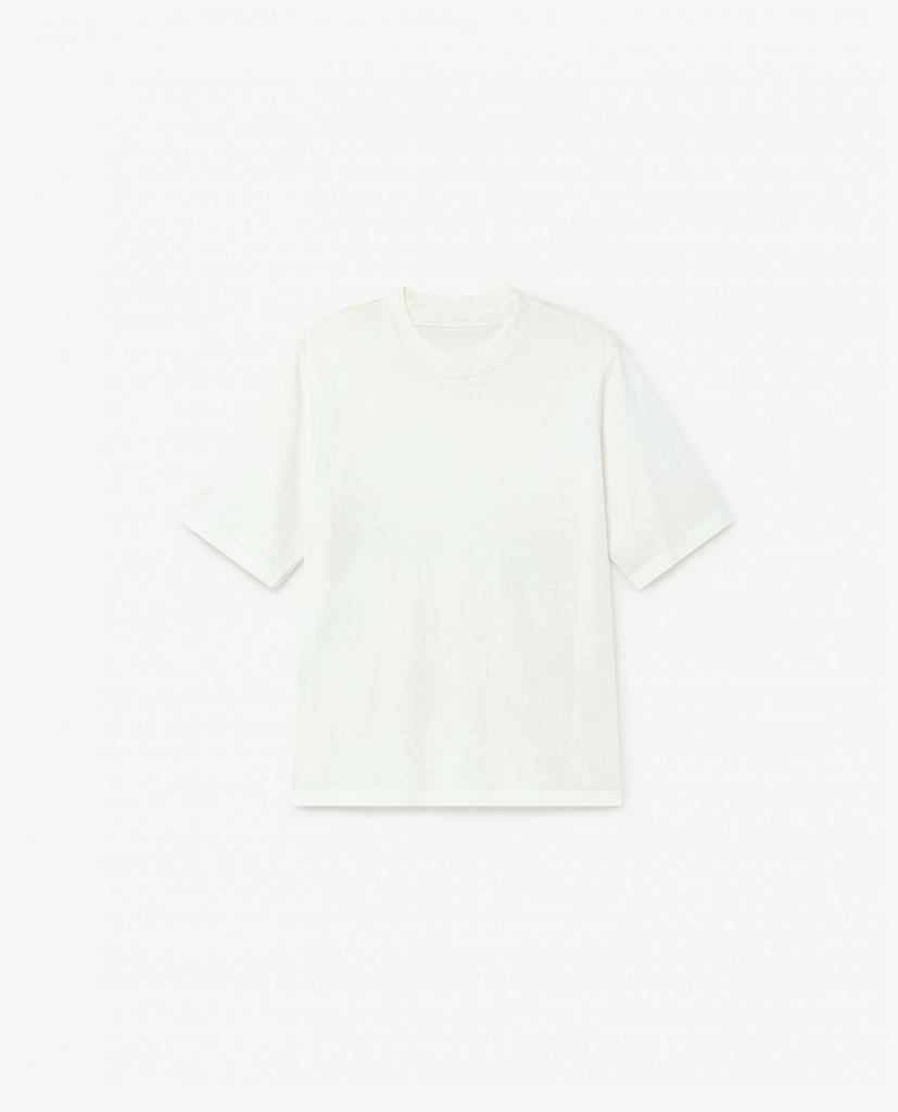 Thinking Mu - Mock Neck - White