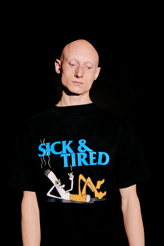 Sick and Tired SS tee black