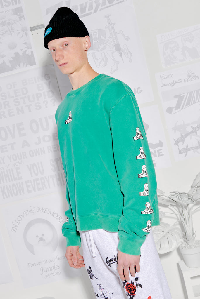 Sphinx Logo seafoam sweater