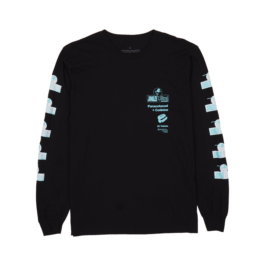 PAIN RELIEF LS TEE BLACK