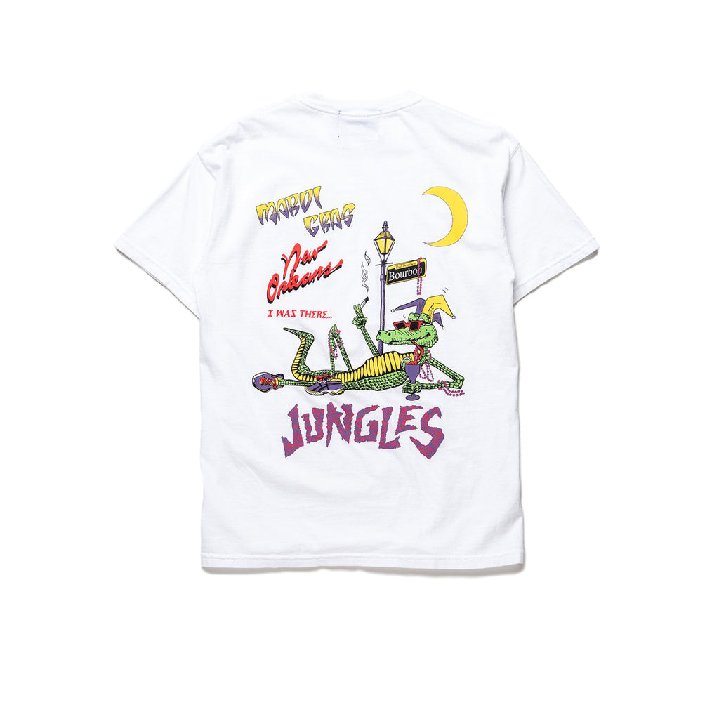Party Alligator SS tee white