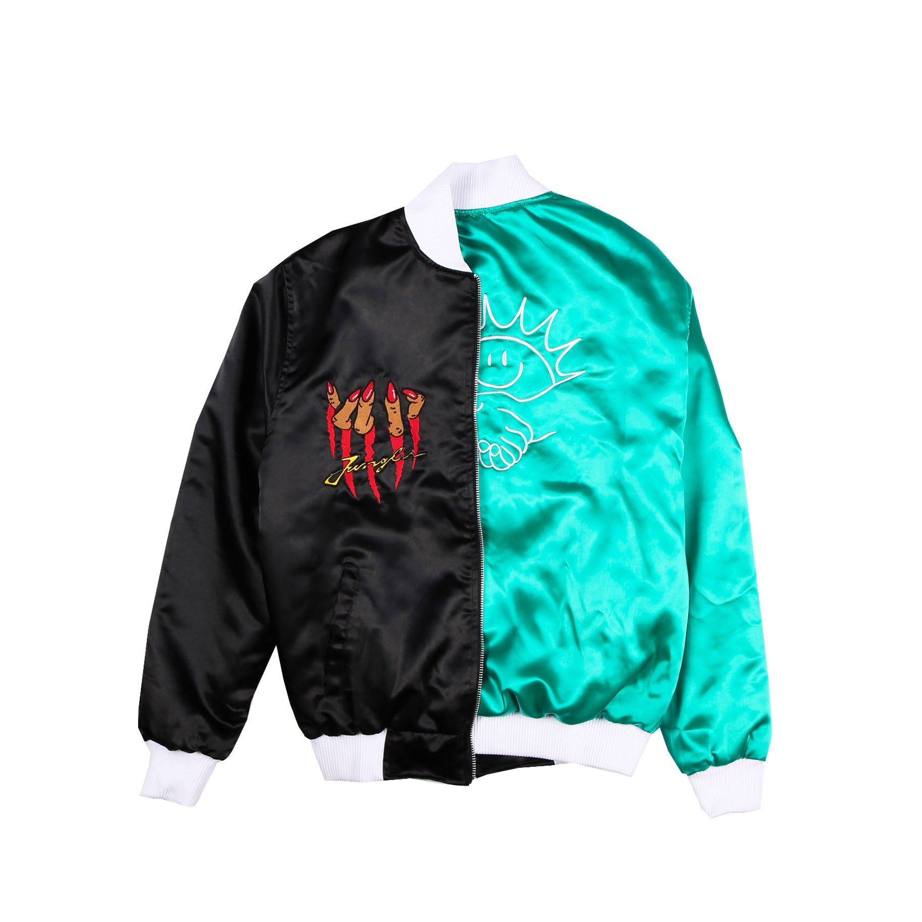 Reversible satin club jacket