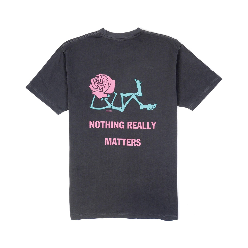 NOTHING REALLY MATTERS SS TEE BLACK OVERDYE