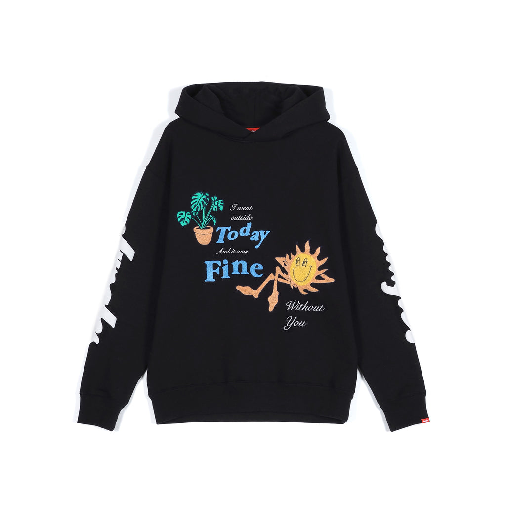 Fine Without You - Chenille embroidered hoodie