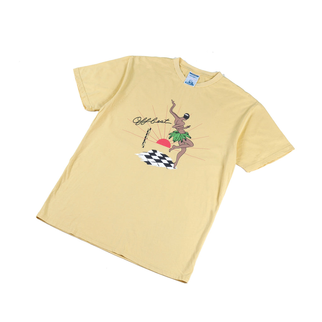 Off Beat ss tee yellow