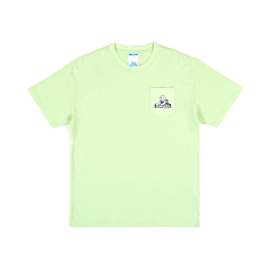 Sphinx Logo pocket tee lime