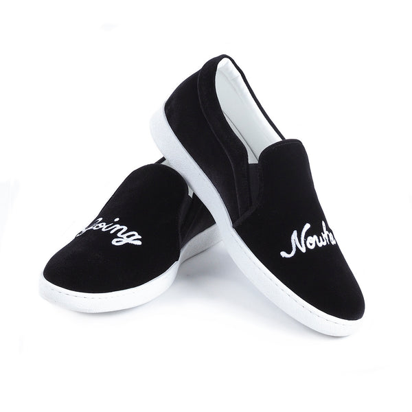 GOING NOWHERE VELVET SLIP ON