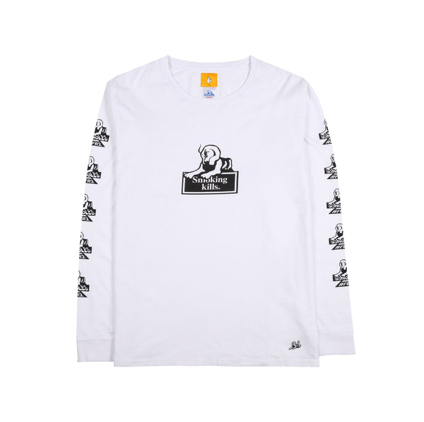 Jungles/Fxxking Rabbits - Smoking Kills LS tee white