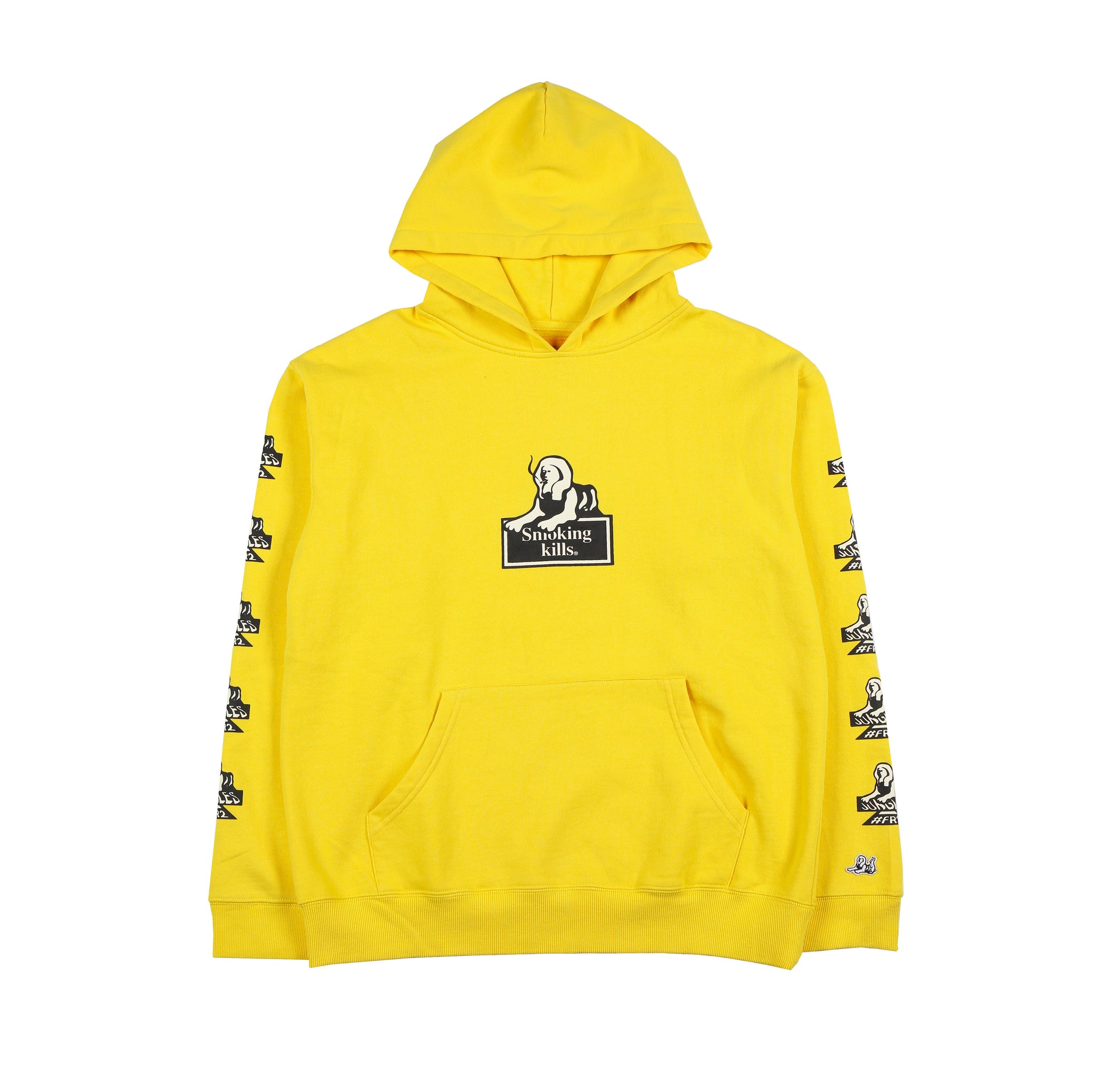 Jungles/Fxxking Rabbits - Smoking Kills hoodie yellow