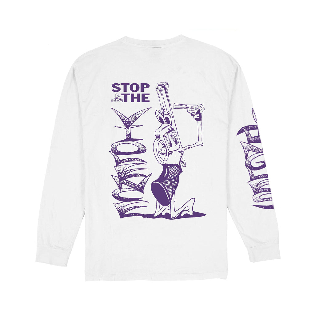 STOP THE VIOLENCE LS TEE WHITE