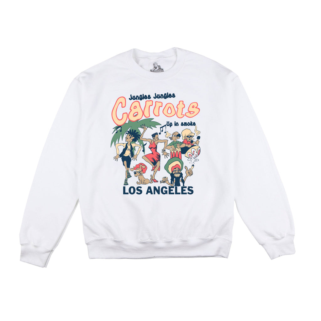 Carrots/Jungles Up in smoke crew neck sweater