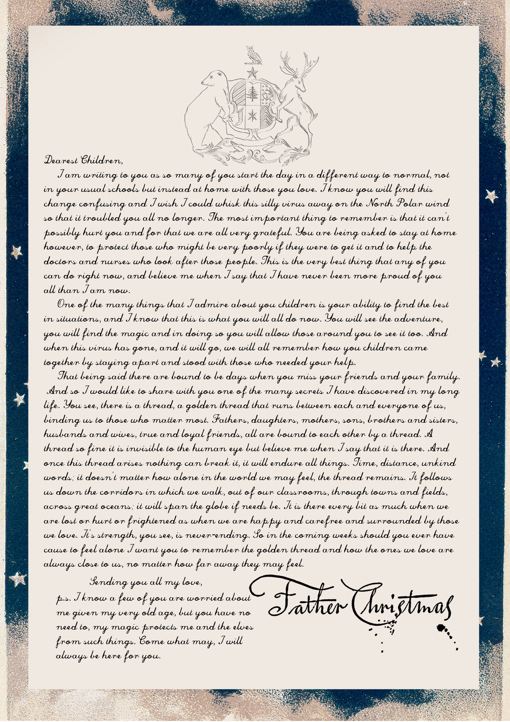 The Golden Thread Letter from Father Christmas
