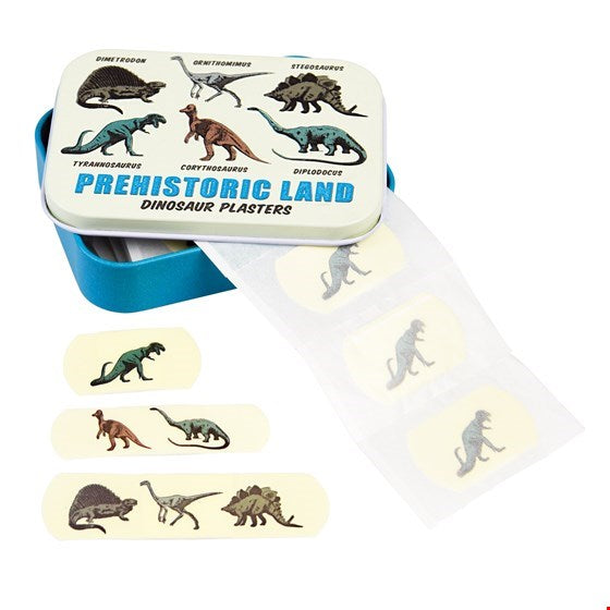 Prehistoric Land - Dinosaur Plasters in a tin